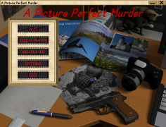 Image of A Picture Perfect Murder main menu.