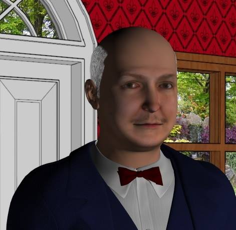 B&B manager game character.